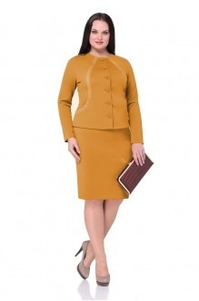 Юбочный костюм /комплект Golden Vallеy 6104 горчичный фото 1