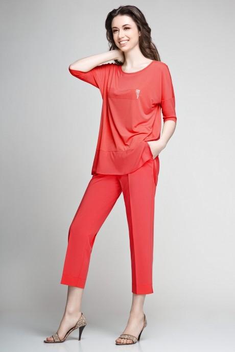 Брючный костюм /комплект Teffi Style 1200 красный