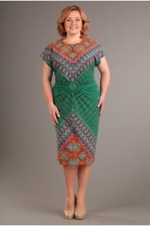 Летнее платье Diomant 1087 зеленый/терракот фото 1