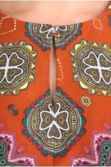 Летнее платье Diomant 1087 зеленый/терракот фото 2