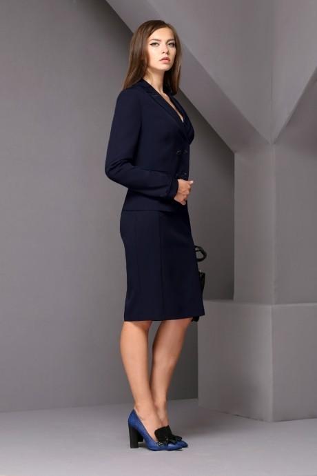 Юбочный костюм /комплект Golden Vallеy 6098 темно-синий