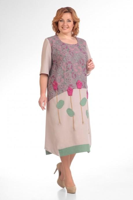 Повседневное платье Надин-Н 1276 (2) сирень
