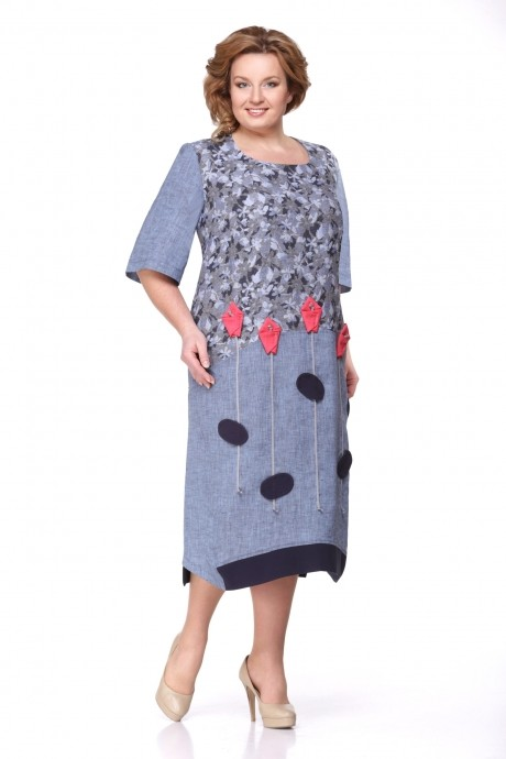 Повседневное платье Надин-Н 1276 джинс