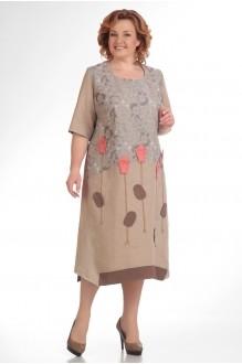 Повседневное платье Надин-Н 1276 (1) беж фото 1