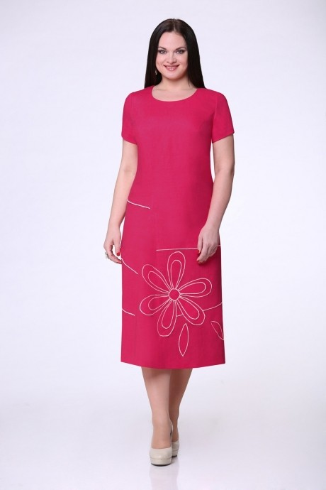Летнее платье Надин-Н 1216 (1) фуксия