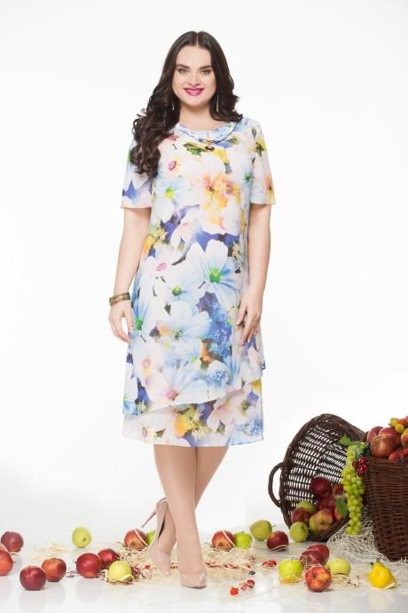 Летнее платье LeNata 11548 цветы