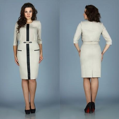 Деловое платье Fantazia Mod RX-2642 бежевый