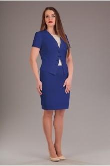 Юбочный костюм /комплект Нинель Шик 5382 синий фото 1