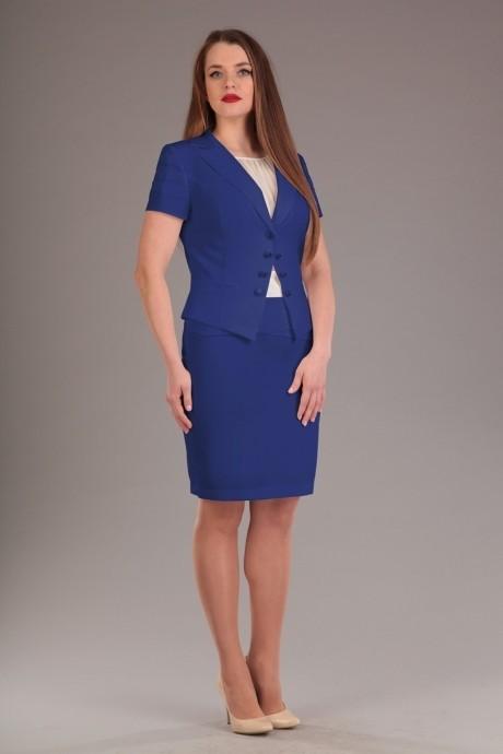 Юбочный костюм /комплект Нинель Шик 5382 синий
