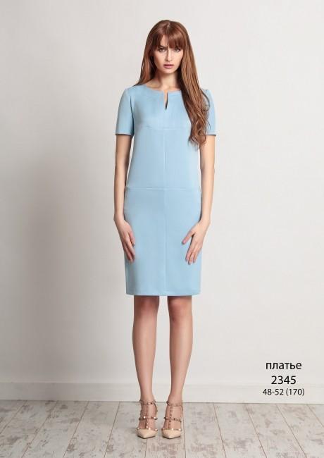 Летнее платье Bazalini 2345 голубой
