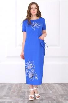 Длинное платье ЛаКона 171 василек фото 1