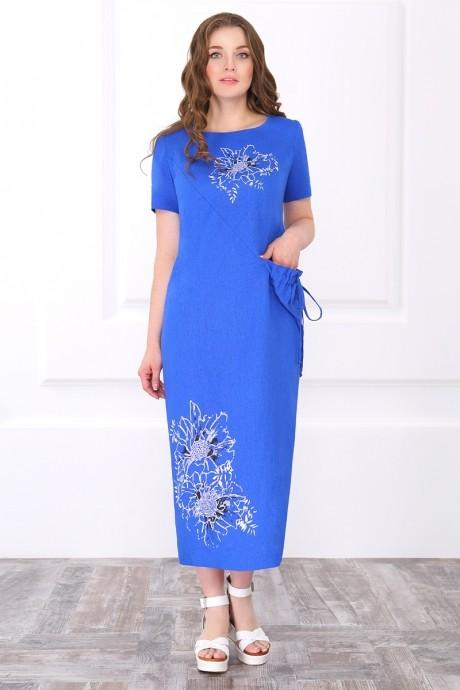 Длинное платье ЛаКона 171 василек