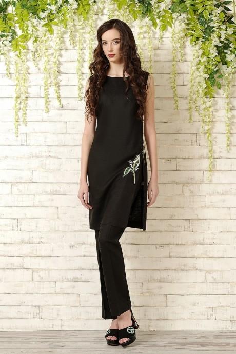Брючный костюм /комплект Prestige 2836 черный