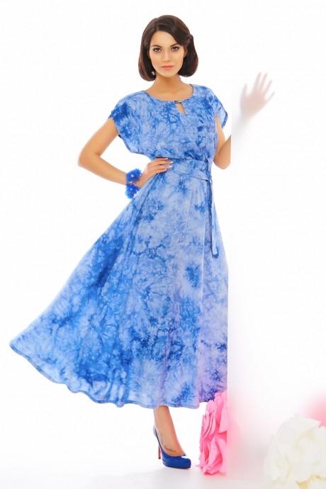 Длинное платье Anna Majewska 1874 голубой