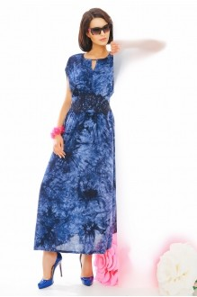 Длинное платье Anna Majewska 1874 синий фото 1