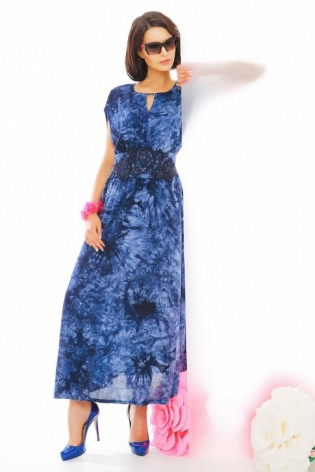 Длинное платье Anna Majewska 1874 синий