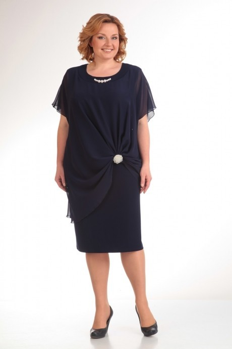 Вечернее платье Прити 393 темно-синий