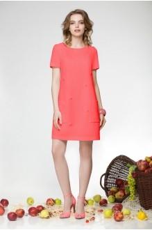 Летнее платье LeNata 11658-1 коралл фото 1
