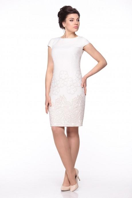 Вечернее платье Надин-Н 1296 молочный