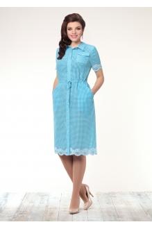 Летнее платье Галеан-стиль 496 голубой фото 1