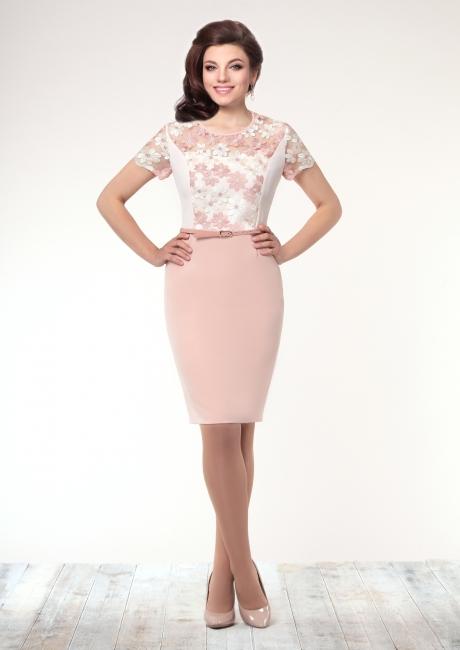 Летнее платье Галеан-стиль 501 розовый