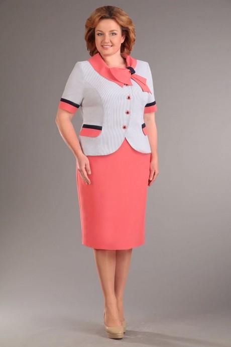 Юбочный костюм /комплект Асолия 1090 коралл