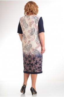 Повседневное платье Прити 440 синий/огурцы фото 2