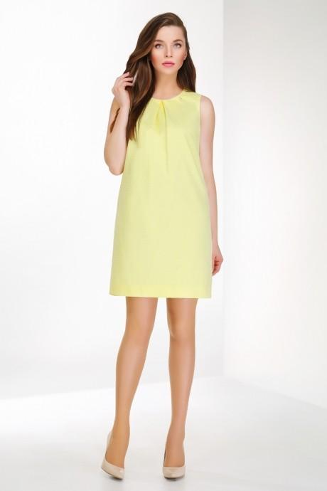 Летнее платье Ивелта Плюс 1455 желтый