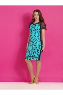 Повседневное платье Lissana 2861 бирюза/синий фото 1