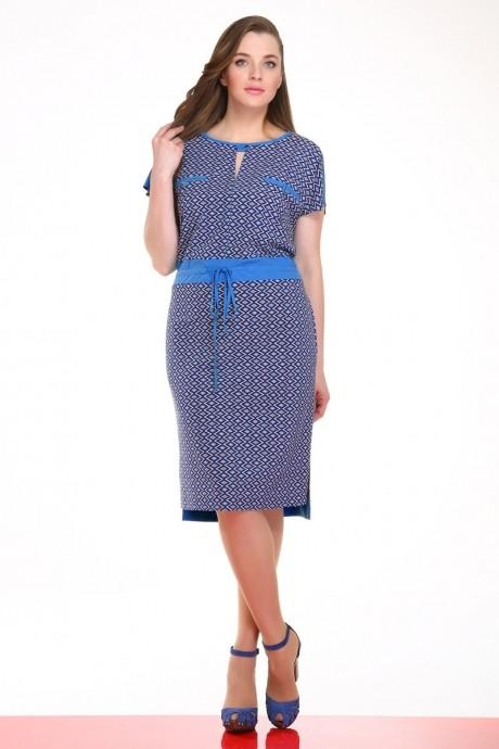 Повседневное платье Ивелта Плюс 1445 синий