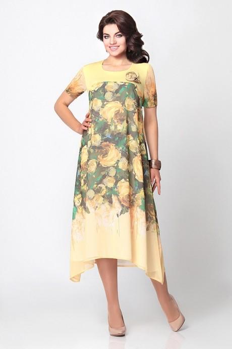 Летнее платье Мублиз 997 желтый
