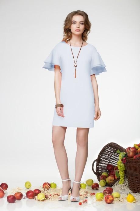 Летнее платье LeNata 11681 голубой