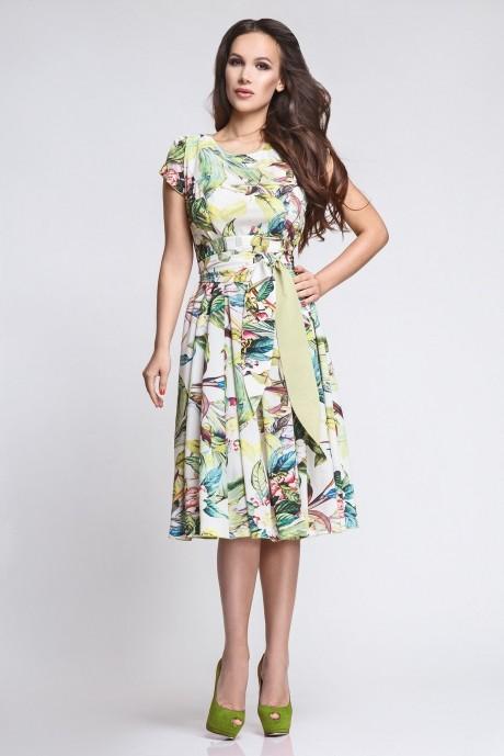 Летнее платье Teffi Style 721/1 луг