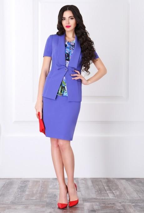 Юбочный костюм /комплект ЛаКона 960 персидский синий