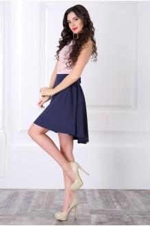 Вечернее платье ЛаКона 958 пудра/синий фото 2