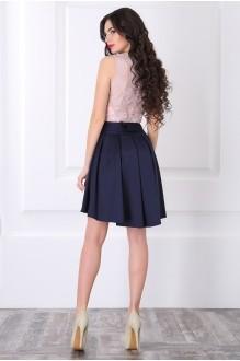 Вечернее платье ЛаКона 958 пудра/синий фото 3