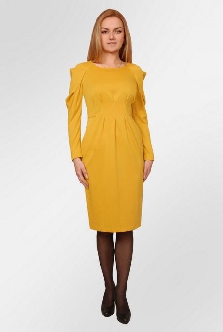 Повседневное платье Ладис Лайн 355 горчица