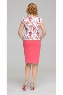 Юбочный костюм /комплект ЛаКона 744 бело-розовый фото 3