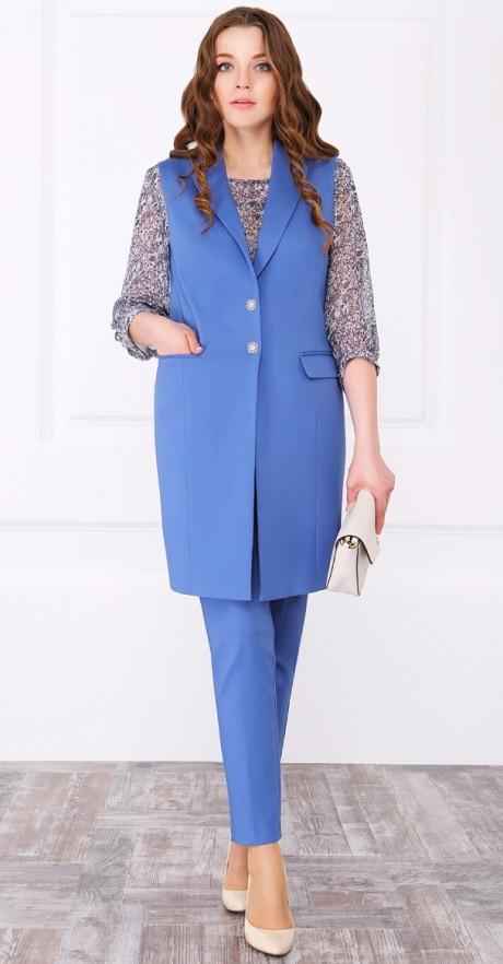 Брючный костюм /комплект ЛаКона 949 голубой