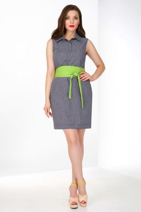 Летнее платье Ивелта Плюс 1460 серый