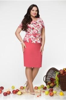 Юбочный костюм /комплект LeNata 21670 цветы фото 1