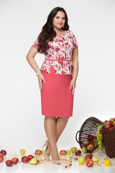 Юбочный костюм /комплект LeNata 21670 цветы