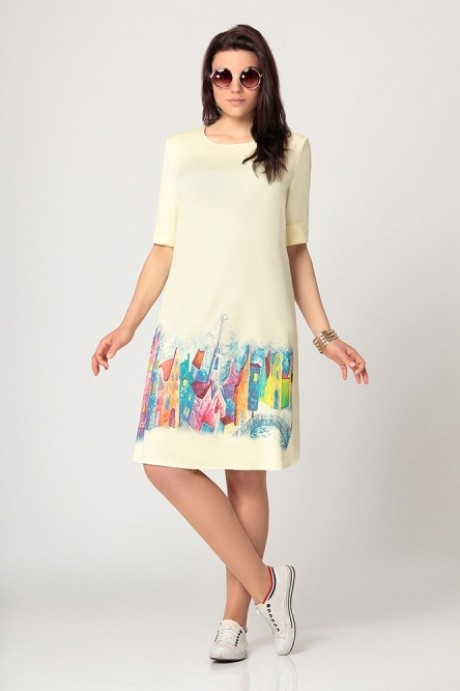 Повседневное платье Мублиз 990 лимон