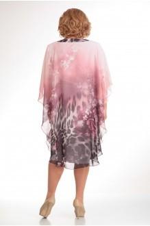 Повседневное платье Прити 441 розовый/леопард фото 2