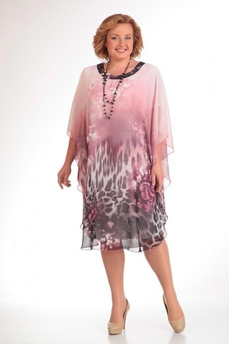 Повседневное платье Прити 441 розовый/леопард