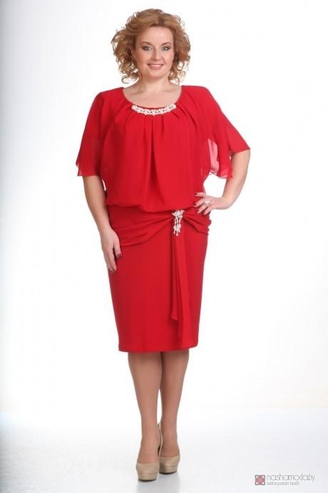 Вечернее платье Прити 154 красный