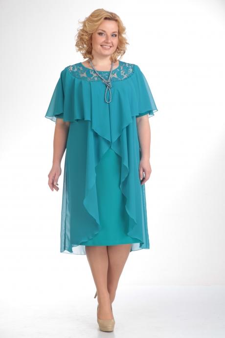 Вечернее платье Прити 168 бирюза