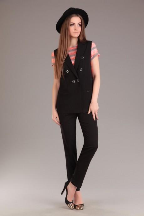 Брючный костюм /комплект Ksenia Stylе 1263 черный