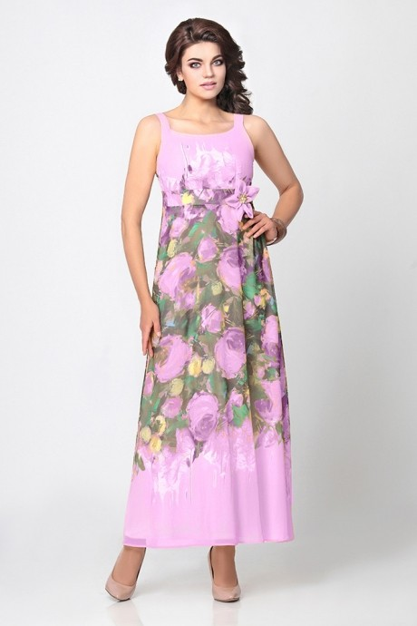 Длинное платье Мублиз 999 сирень