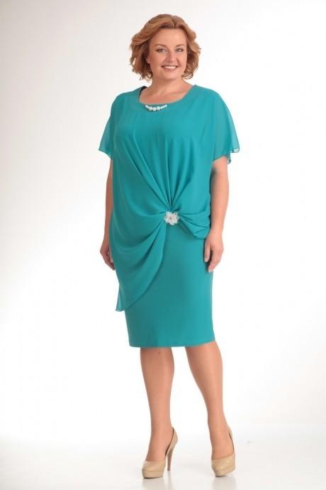Вечернее платье Прити 393 бирюза